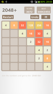 screenshot of 2048 Plus version 5.1