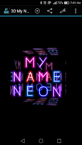 screenshot of 3D My Name Neon Live Wallpaper version 2.0