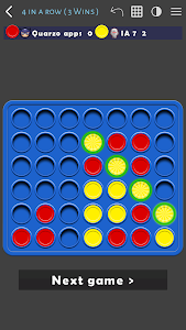 screenshot of 4 in a row version 1.2.1