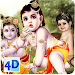 4D Little Krishna App & Live Wallpaper