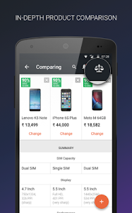 screenshot of Mobile Price Comparison App version 3.4