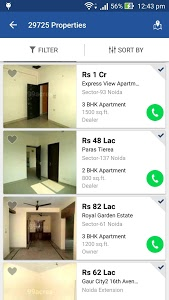 screenshot of 99acres Real Estate & Property version 5.0.1