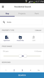 screenshot of 99acres Real Estate & Property version 4.2.0