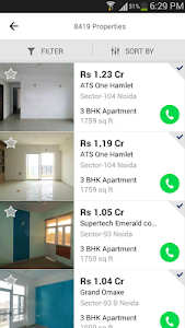 screenshot of 99acres Real Estate & Property version 3.0.3