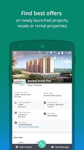 screenshot of 99acres Real Estate & Property version 9.4.2.5