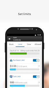 screenshot of AT&T Smart Limits℠ version Varies with device
