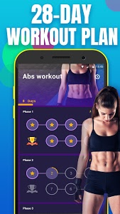 screenshot of Abs Workout in 28 Days-home ab & core fitness plan version 1.6