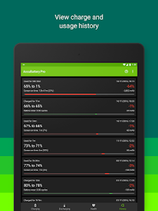 screenshot of Accu​Battery version 1.2.6-1