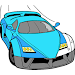 Adult Color by Number Book - Paint Cars by Numbers