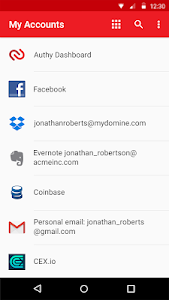 screenshot of Authy 2-Factor Authentication version 23.9.0