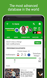 screenshot of BeSoccer - Soccer Live Score version 5.0.2.2