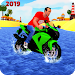Beach Water Surfer Bike Rider: Motorcycle Stunts