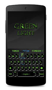 screenshot of Black Green Keyboard Theme version 6.6.2.2019