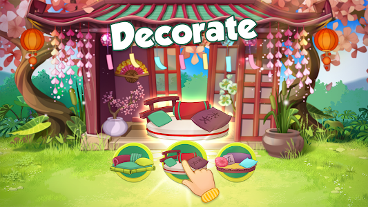 screenshot of Bloomberry match-3 story. Merge fruits & decorate! version 0.38.174