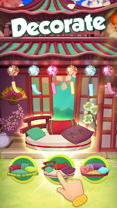 screenshot of Bloomberry match-3 story. Merge fruits & decorate! version 0.194.0