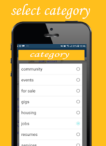 screenshot of Fast craigslist browser: services-community-jobs version 1.1.1