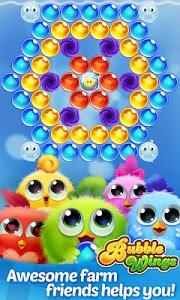 screenshot of Bubble Wings: offline bubble shooter games version 1.5.4