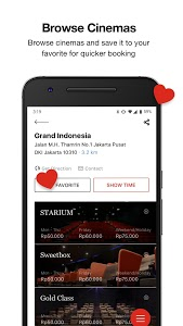 screenshot of CGV CINEMAS INDONESIA version 5.1.1