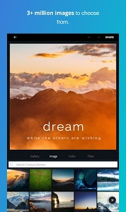 screenshot of Canva: Poster, banner, card maker & graphic design version 1.3.1