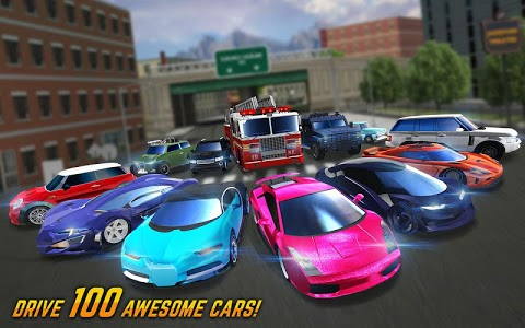 screenshot of City Car Driving & Parking School Test Simulator version 2.6