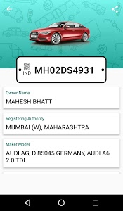 screenshot of Car Info Vehicle Registration version 1.7