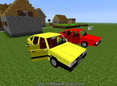 screenshot of Car Mod for Minecraft Game version 1.53.71