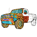 Cars Glitter Color by Number-Vehicle Coloring Book