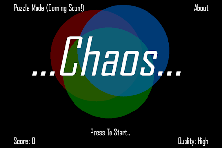 screenshot of Chaos version 2.0.0