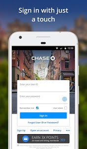 screenshot of Chase Mobile version 3.62