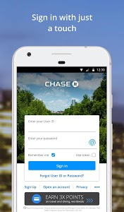 screenshot of Chase Mobile version 4.100