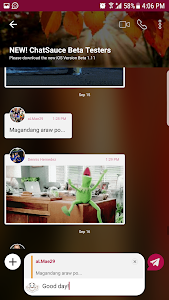 screenshot of ChatSauce version 2.1.44.9