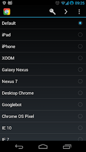 screenshot of Chrome User Agent Switcher version 1.4.6