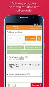 screenshot of Consultoria Natura (Pedidos) version 3.4.7