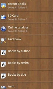 screenshot of Cool Reader version 3.2.29-1