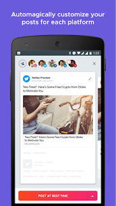 screenshot of Crowdfire: Social Media Manager version 4.14.4