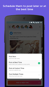 screenshot of Crowdfire: Social Media Manager version 4.13.1
