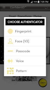 screenshot of DXC ConfidentID™ Authenticator version 1.0.0.7
