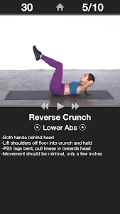 screenshot of Daily Ab Workout - Core & Abs Fitness Exercises version 6.10