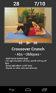 screenshot of Daily Ab Workout - Core & Abs Fitness Exercises version Varies with device