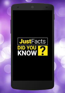 screenshot of Just Facts: Did You Know? version 5.4