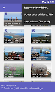 screenshot of DiskDigger photo recovery version 1.0-2018-12-07
