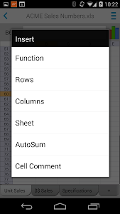screenshot of Docs To Go™ Free Office Suite version 4.003
