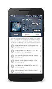 screenshot of DoublePod Podcasts for android version 3.2.5