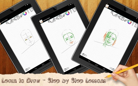 screenshot of Drawing Lessons Celebrities version 1.01