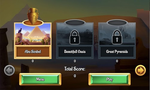 screenshot of Egypt Solitaire version 1.1