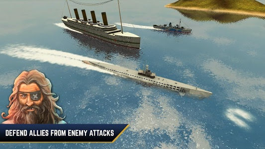 screenshot of Enemy Waters : Submarine and Warship battles version 1.052