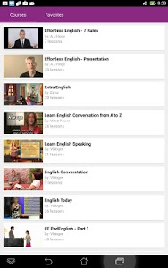 screenshot of English Conversation Courses version 4.1806.3
