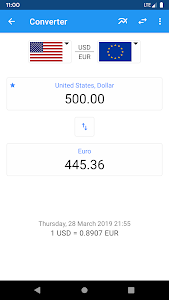 screenshot of Exchange Rates - Currency Converter version 2.5.6