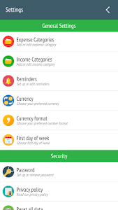 screenshot of Expense Manager - Tracker version 1.3.0