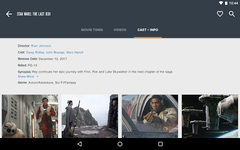 screenshot of Fandango Movies - Times + Tickets version Varies with device